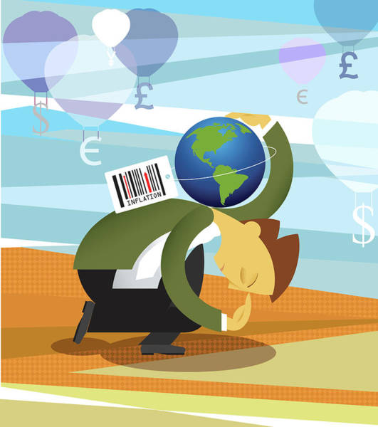 Financial Crisis Photograph - Conceptual Illustration Representing Inflation by Fanatic Studio / Science Photo Library