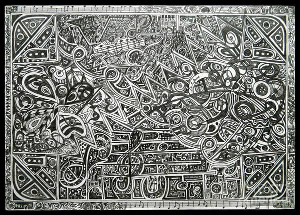 Mat Drawing - Concert by Denisa Laura Doltu
