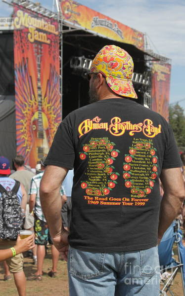 Allman Brothers Band Photograph - Concert Fan Color by Concert Photos
