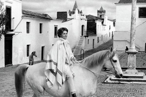 Iberian Peninsula Photograph - Conchita Cintron Riding A Horse by Henry Clarke