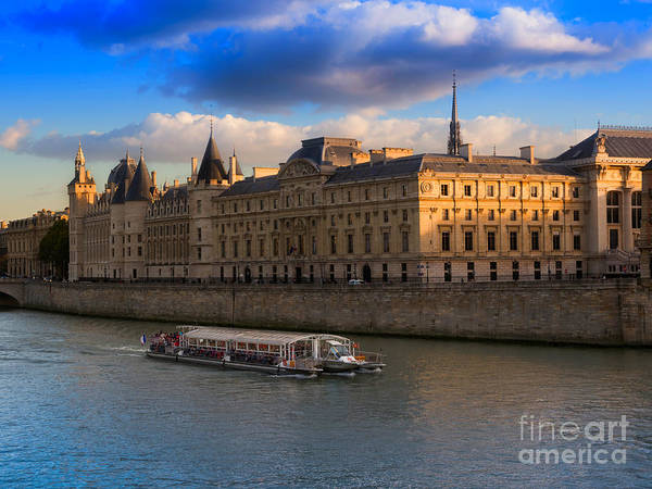 Wall Art - Photograph - Conciergerie And The Seine River Paris by Louise Heusinkveld