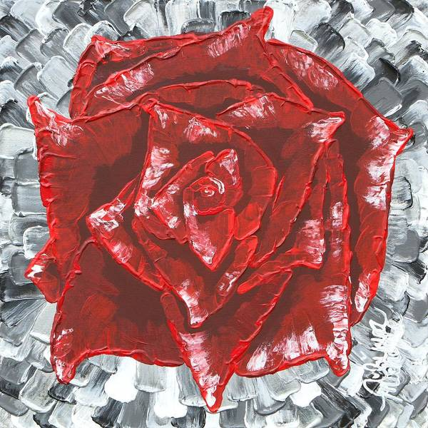 Painting - Concrete Rose  by Aliya Michelle