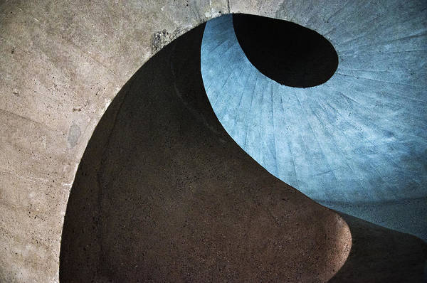 Geometric Photograph - Concrete Wave by Linda Wride