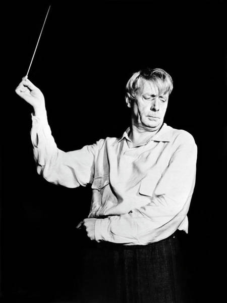 Photograph - Conductor Charles Munch by Underwood Archives