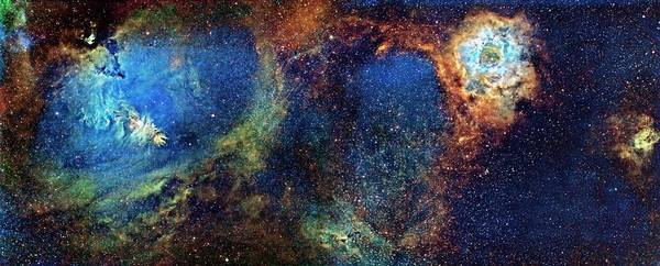 Wall Art - Photograph - Cone And Rosette Nebulae by J-p Metsavainio/science Photo Library