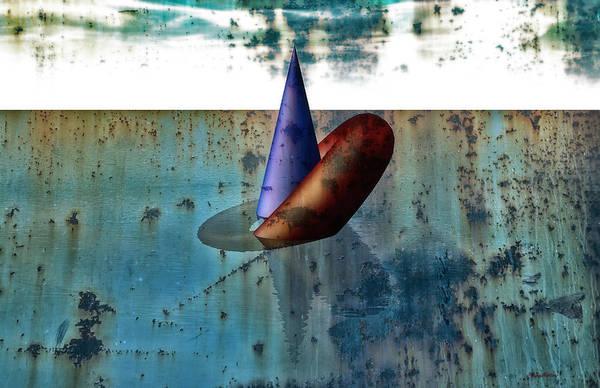 Reflections Digital Art - Cone And Torus by Ramon Martinez