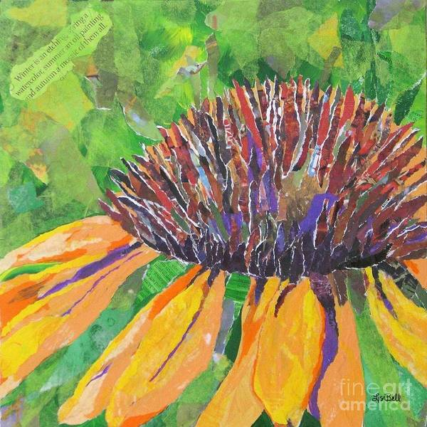 Wall Art - Mixed Media - Cone Flower by Lisa Bell