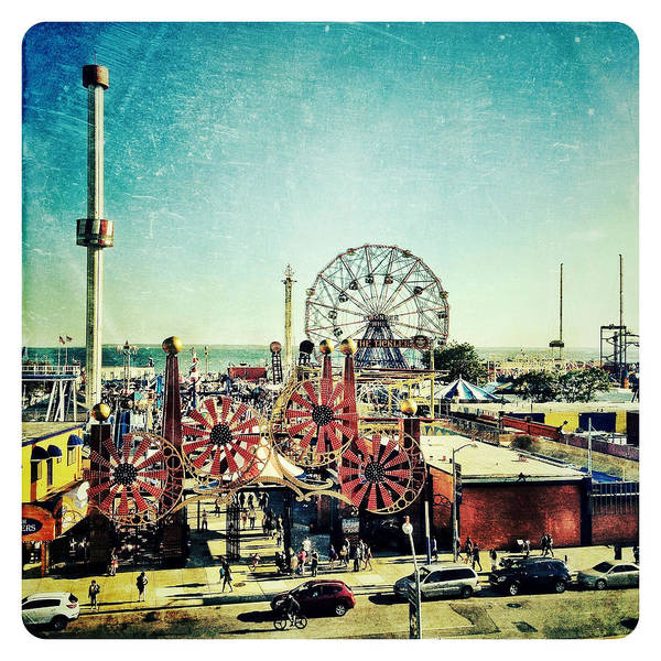 Coney Island Amusement Art Print