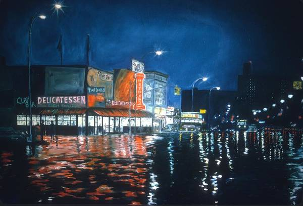 Night Life Painting - Poppy's Cafe, Greenwich Village, 1983  by Anthony Butera