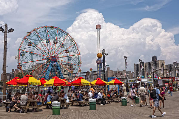 Photograph - Coney Island Boardwalk June 2013 by Frank Winters