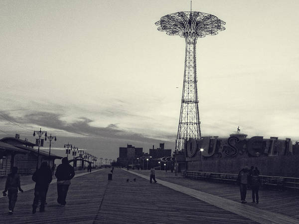 Photograph - Coney Island Dusk by Frank Winters