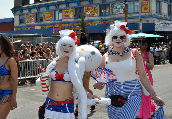 Hello Kitty Wall Art - Photograph - Coney Island Mermaid Parade by Diane Lent