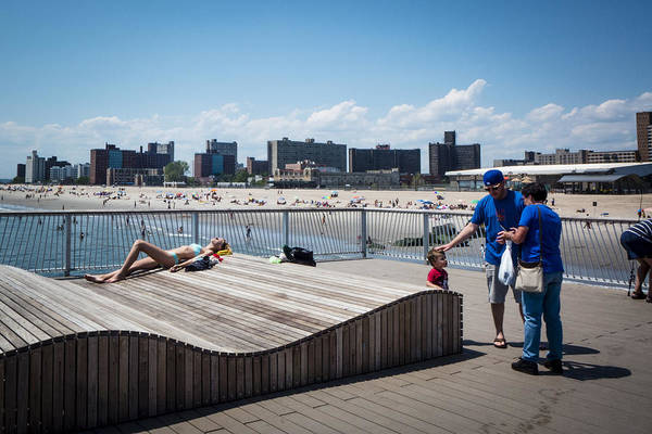 Photograph - Coney Island Sunbathing by Frank Winters