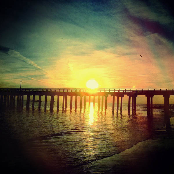 Photograph - Coney Island Sunset January 5th 2013 by Frank Winters