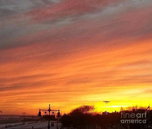 Wall Art - Photograph - Coney Island Winter Sunset by John Telfer
