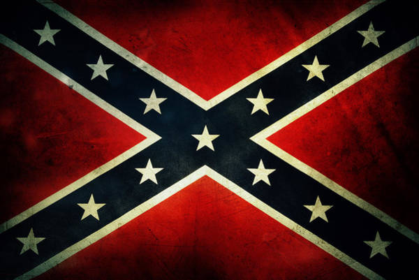 Civil War Wall Art - Photograph - Confederate Flag 4 by Les Cunliffe