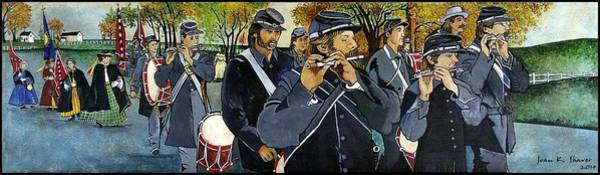 Wall Art - Painting - Confederate Soldiers by Joan Shaver