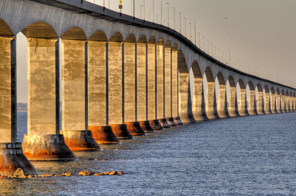 Photograph - Confederation Bridge New Brunswick by Rob Huntley