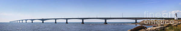 Prince Edward Island Photograph - Confederation Bridge Panorama by Elena Elisseeva