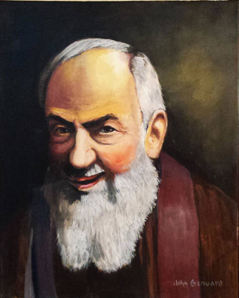 Padre Pio Wall Art - Painting - Confession by John Genuard