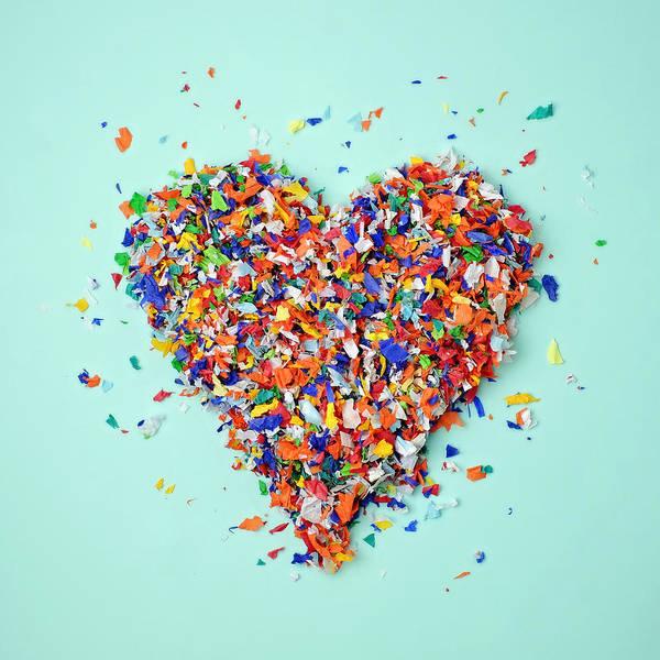 Photograph - Confetti Heart by Juj Winn