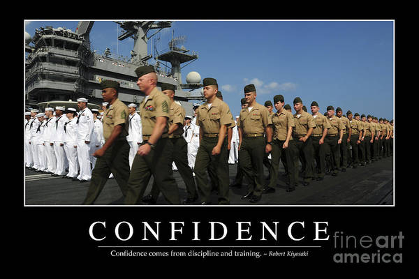 Shipmates Photograph - Confidence Inspirational Quote by Stocktrek Images