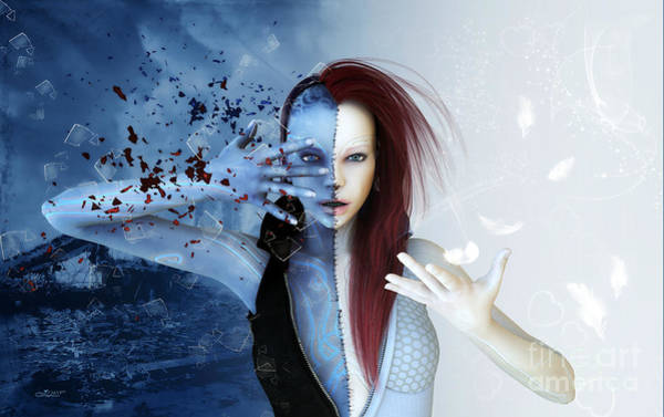Digital Art - Conflict by Jutta Maria Pusl