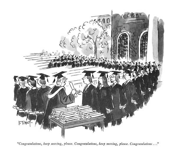 1974 Drawing - Congratulations by Barney Tobey