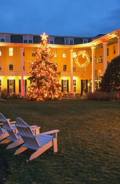 Photograph - Congress Hall Christmas by Tom Singleton