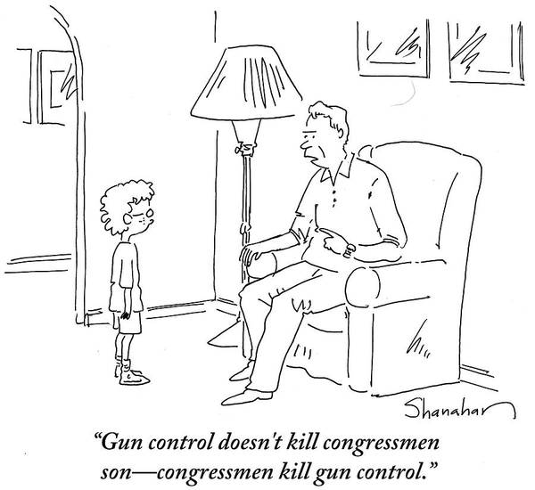 Wall Art - Drawing - Congressmen Kill Gun Control by Danny Shanahan