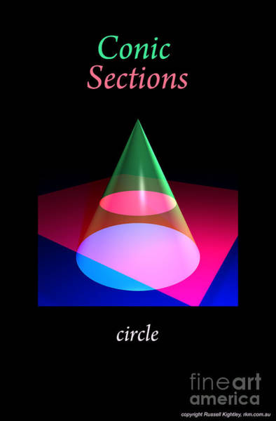 Digital Art - Conic Section Circle Poster by Russell Kightley