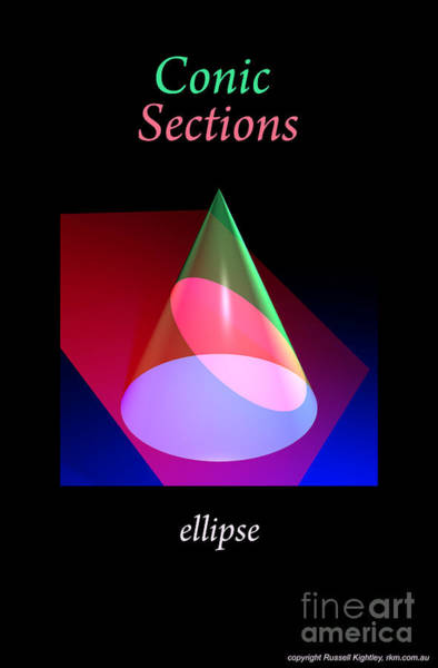 Digital Art - Conic Section Ellipse Poster by Russell Kightley