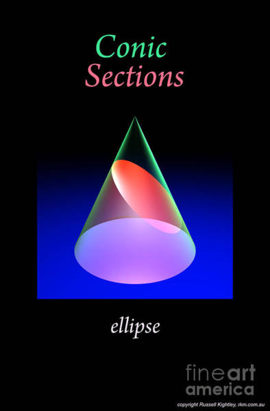 Digital Art - Conic Sections Ellipse Poster 6 by Russell Kightley