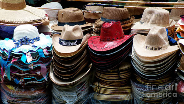 Photograph - Conical Hats 02 by Yew Kwang