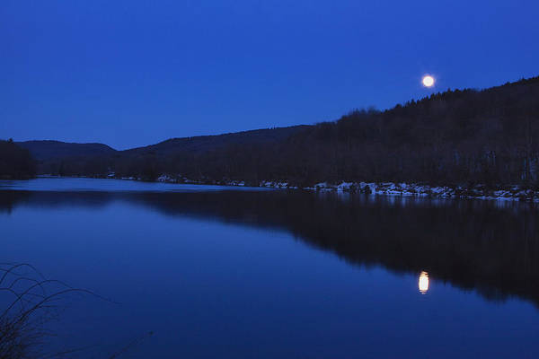 Photograph - Connecticut River Moon by Tom Singleton