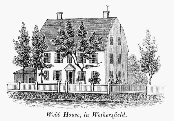 1781 Painting - Connecticut Webb House by Granger
