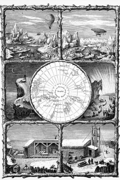 Engraving Photograph - Conquest Of The North Pole by Bildagentur-online/tschanz