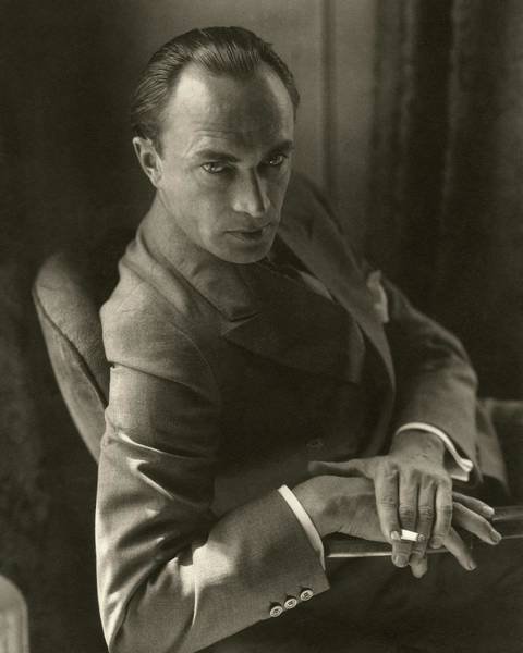 Furniture Photograph - Conrad Veidt Smoking by Edward Steichen