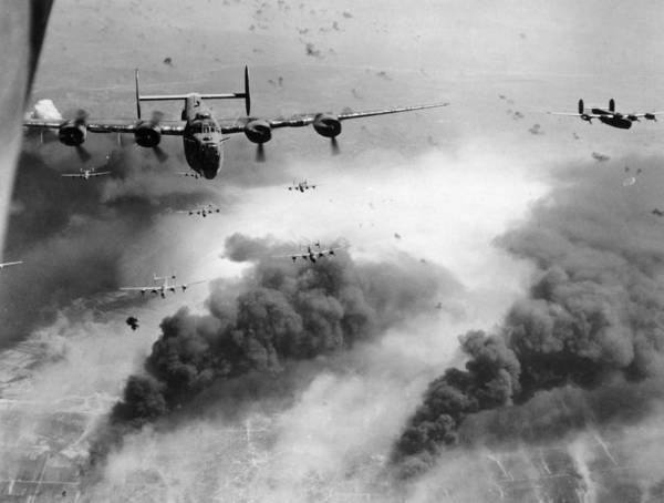 B24 Photograph - Consolidated B-24 Bombers by Granger