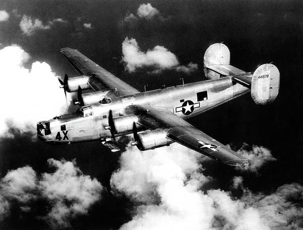 Flying Eagle Photograph - Consolidated B-24 Liberator Heavy Bomber by Nara/science Photo Library