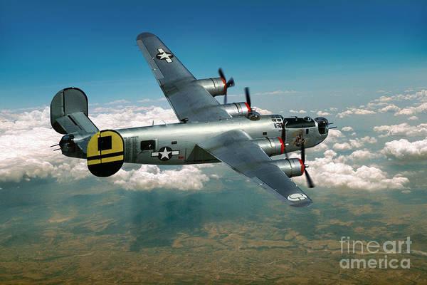 Prop Digital Art - Consolidated B-24 Liberator by Wernher Krutein