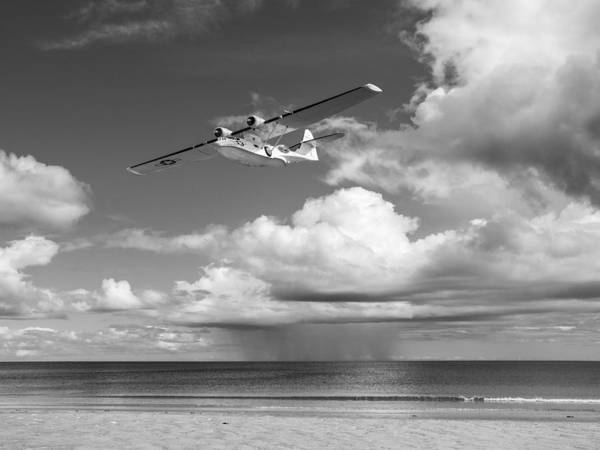 Digital Art - Consolidated Pby Catalina Black And White Version by Gary Eason