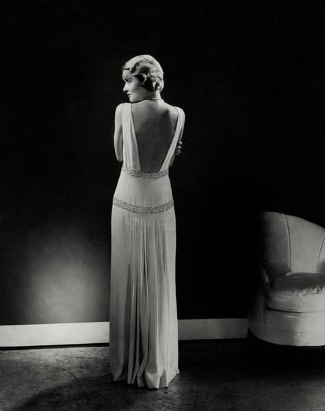 Evening Photograph - Constance Bennett As Seen From Behind by Edward Steichen