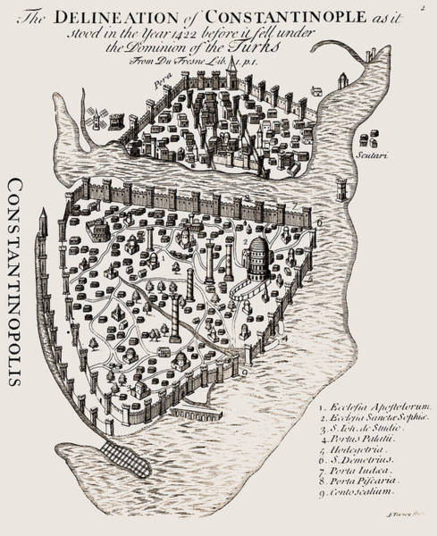 Photograph - Constantinople, 1422 by Granger