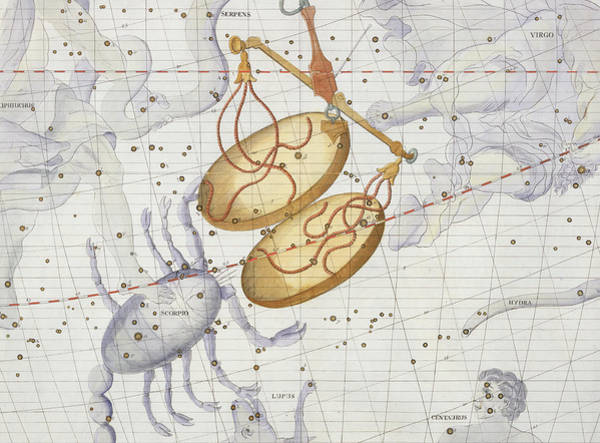 Territory Painting - Constellation Of Libra by Sir James Thornhill