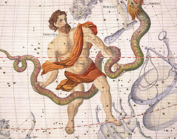 Country Club Painting - Constellation Of Ophiucus And Serpens by Sir