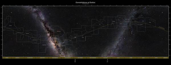 Zodiac Wall Art - Photograph - Constellations Of The Zodiac by Eckhard Slawik