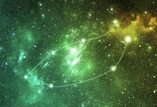 Dust Photograph - Constellations. Piscis Austrinus Psa by Sololos