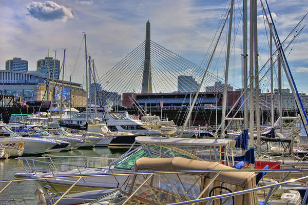 Photograph - Constitution Marina And The Zakim by Joann Vitali