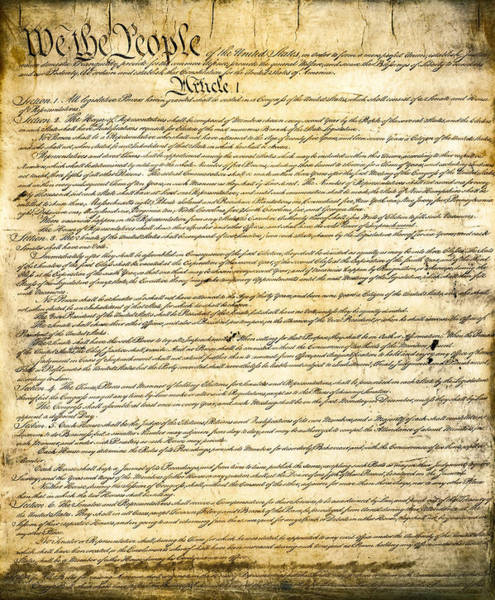 The Patriot Photograph - Constitution Of The United States by Daniel Hagerman